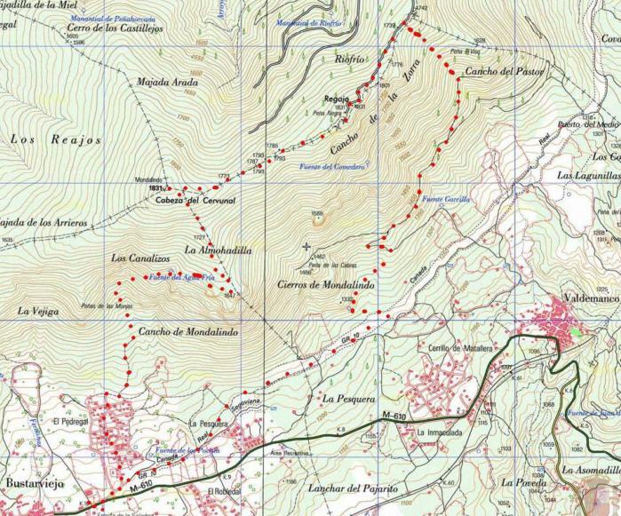 mapa la pedriza pdf